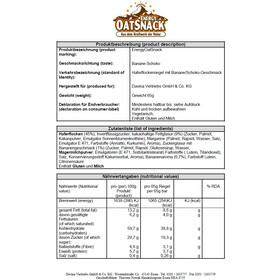Energy OatSnack Cintre 65g, Banana-Chocolate